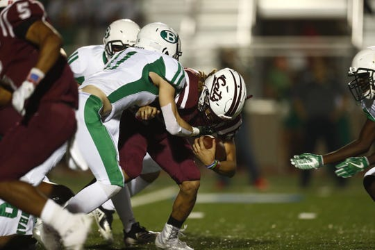 There was no score early in the second quarter of Calallen's playoff game against Brenham on Friday, Nov. 30, 2018.