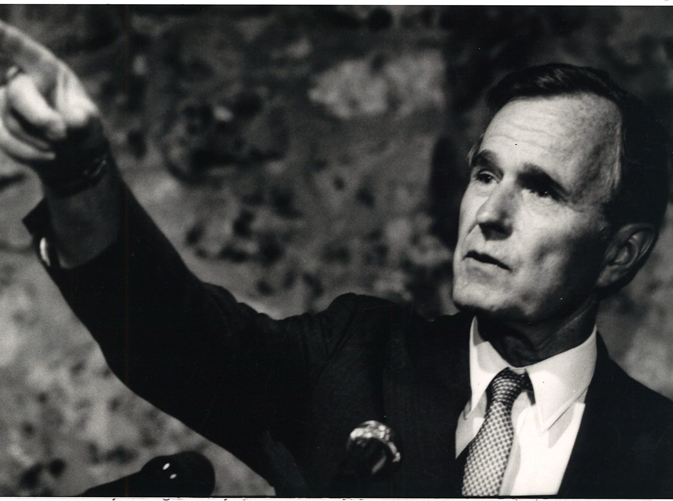Vice president George H.W. Bush on the campaign trail in Beeville, Texas on May 31, 1984.