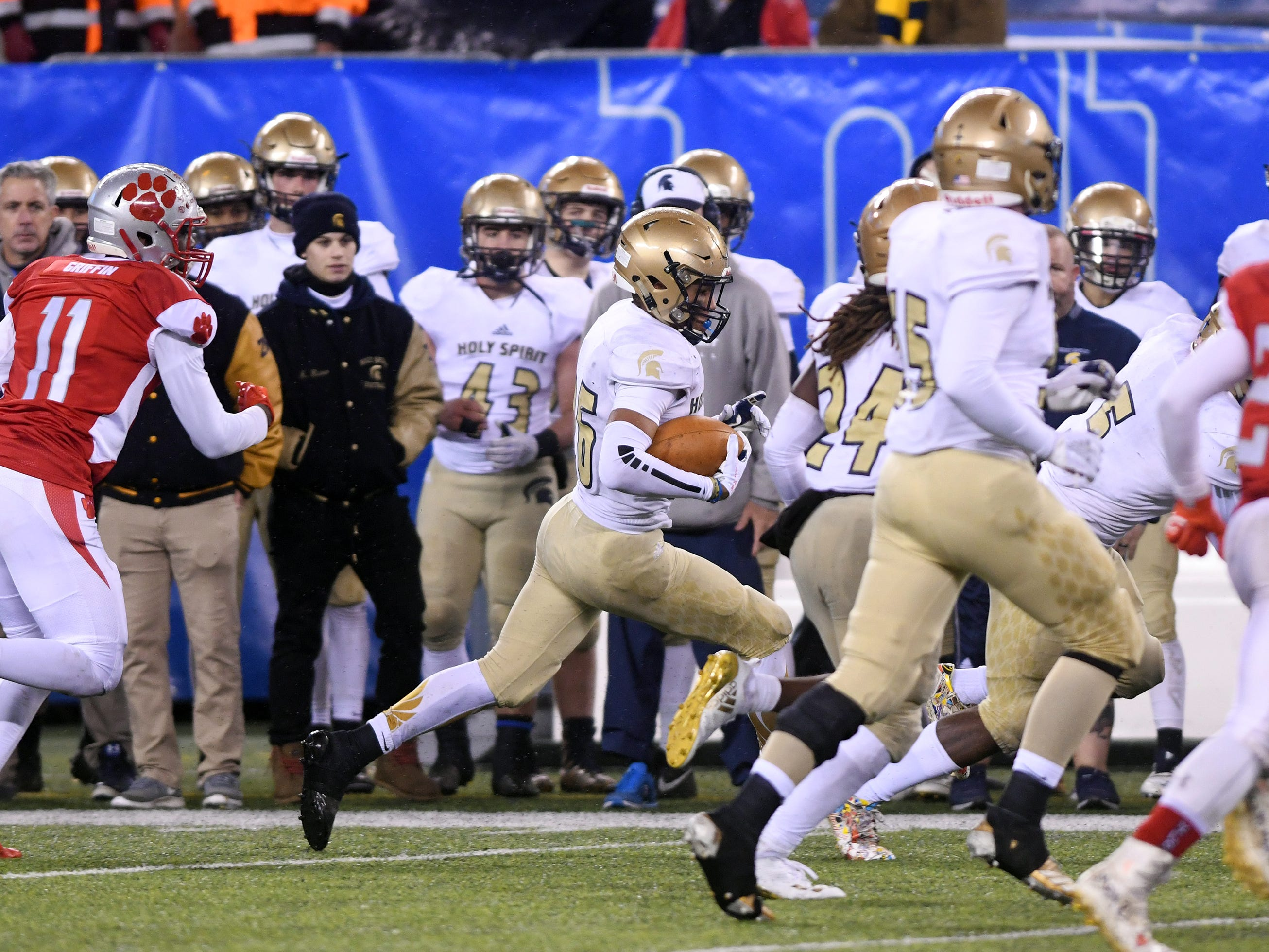 St. Joseph beat Holy Spirit for the Non-Public 2 state championship. The Wildcats topped the Spartans, 41-22 at MetLife Stadium on Friday, November 30, 2018.