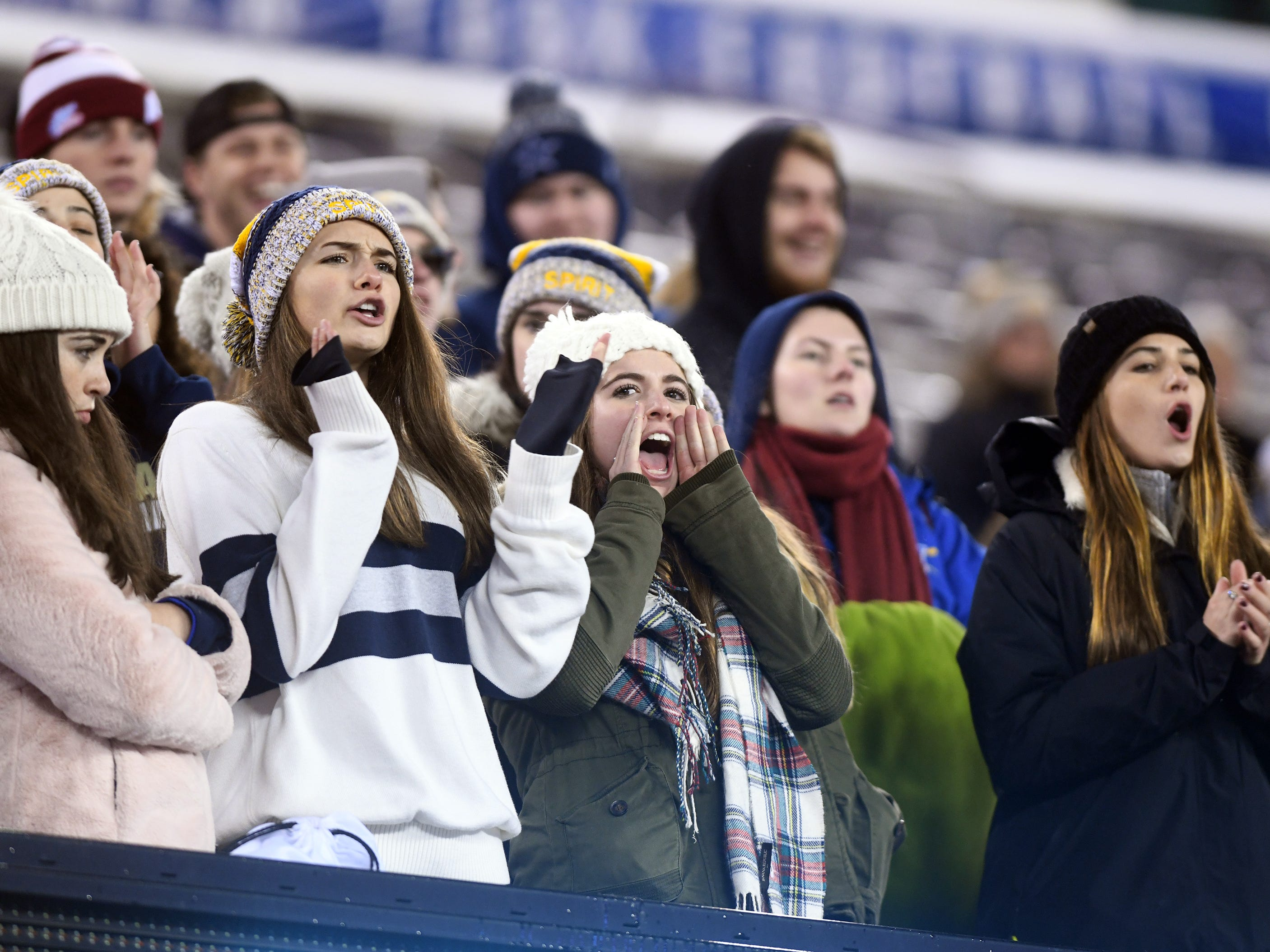 Holy Spirit fans cheer during the Non-Public 2 state championship game against St. Joseph at MetLife Stadium. The Wildcats topped the Spartans, 41-22.