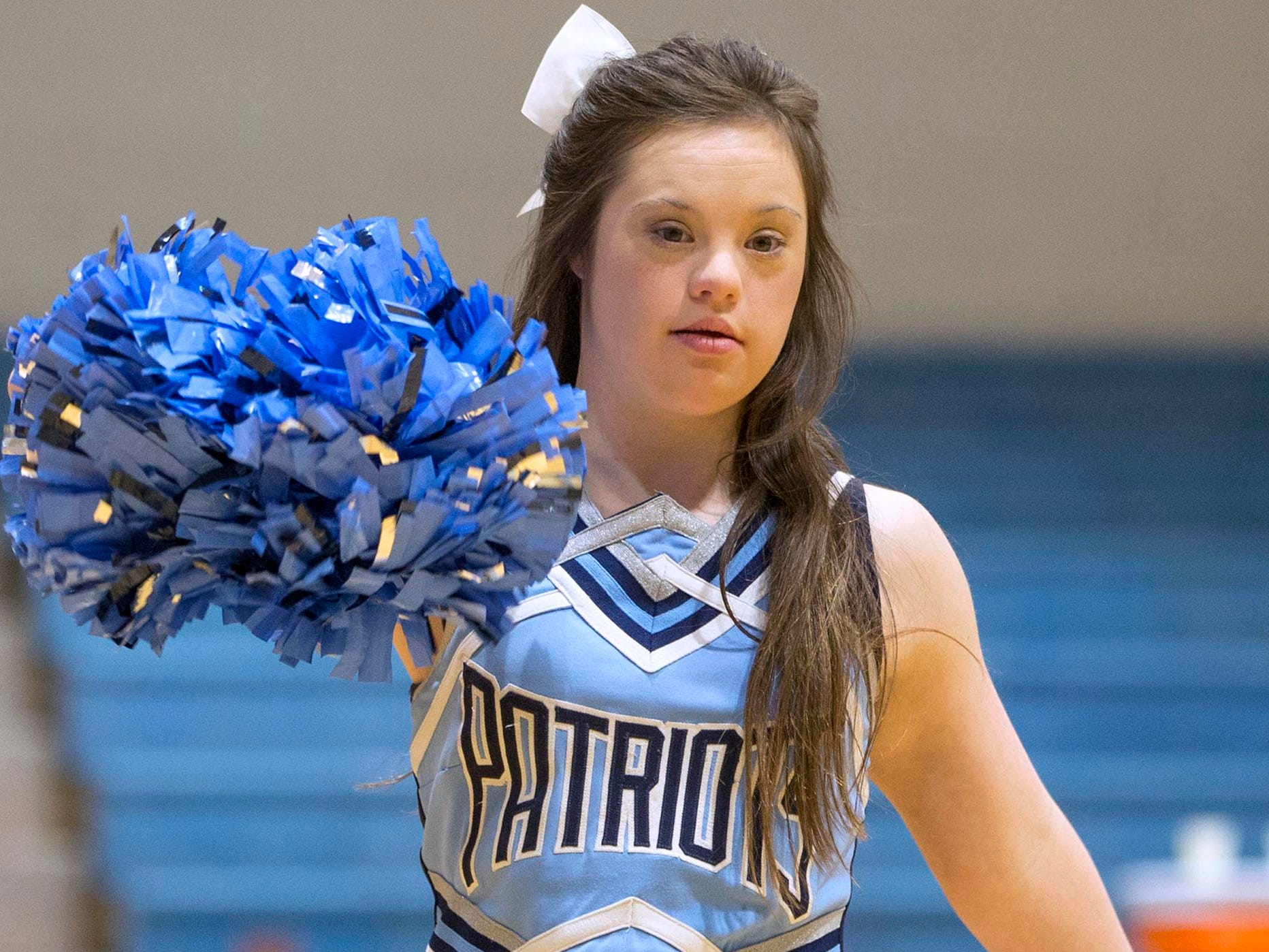 Alaina Lardaro has Down Syndrome, but it doesn't stop her from being as active as any other teen. Along with many other talents, she is a member of the Freehold High School cheerleading squad on Freehold, NJ on Thursday, February 8, 2018