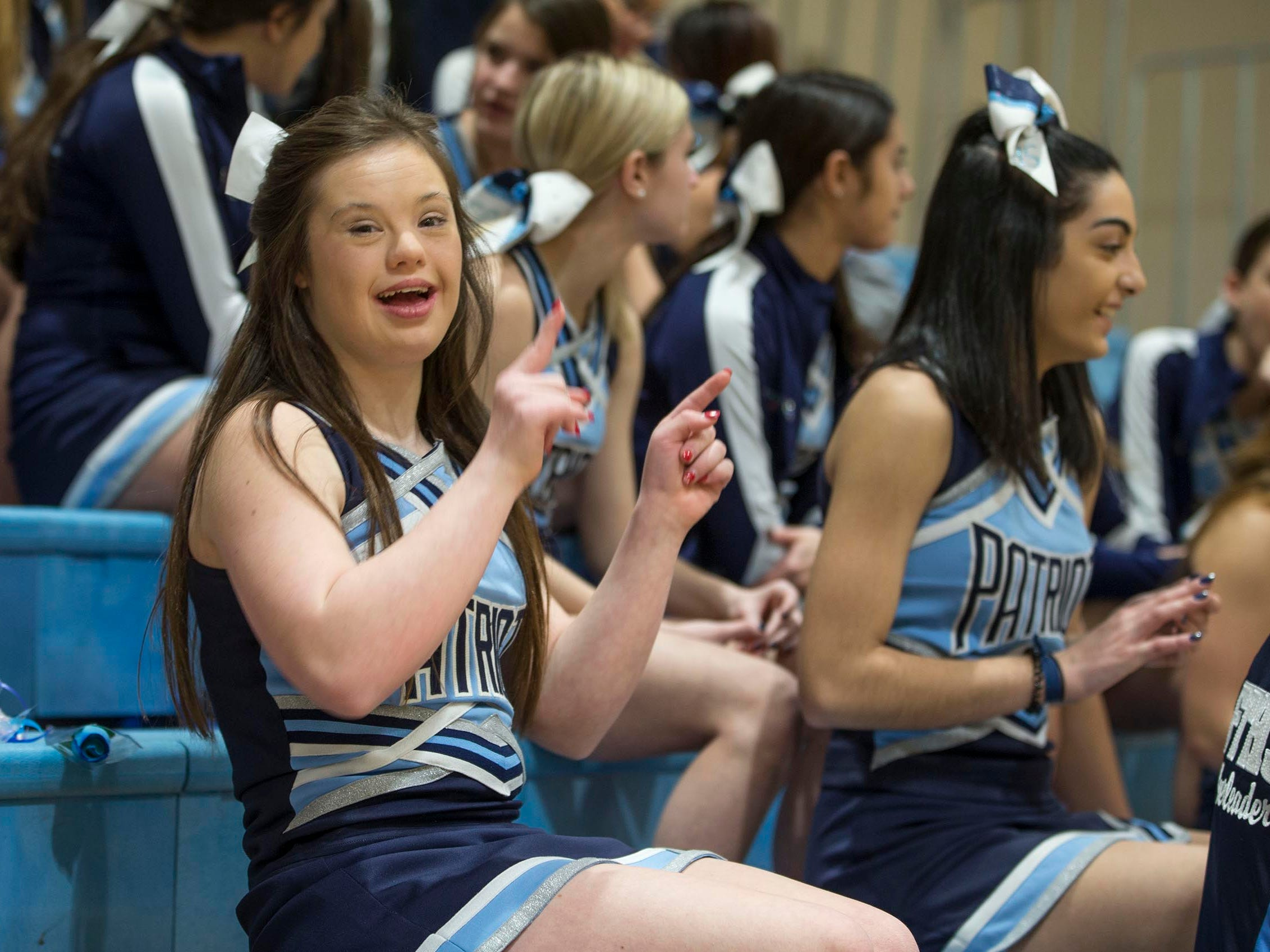 Alaina Lardaro has Down Syndrome, but it doesn't stop her from being as active as any other teen. Along with many other talents, she is a member of the Freehold High School cheerleading squad.