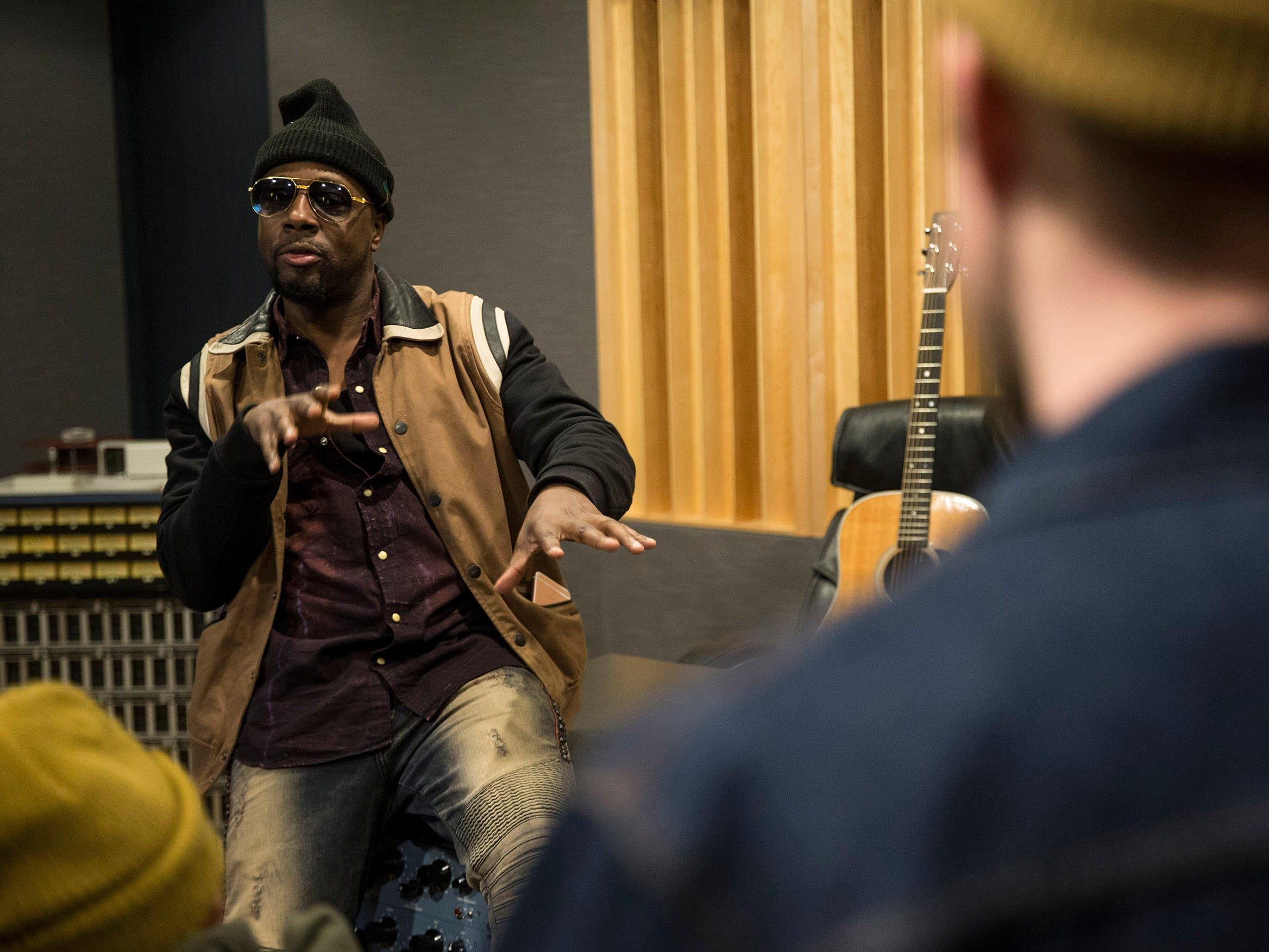 Musician Wyclef Jean drops in to Lakehouse Music Academy to talk with members of the Asbury Park Music Foundation. Wyclef spent a few hours with the kids discussing his career, creating music, and offered advice of how to be successful in life. 