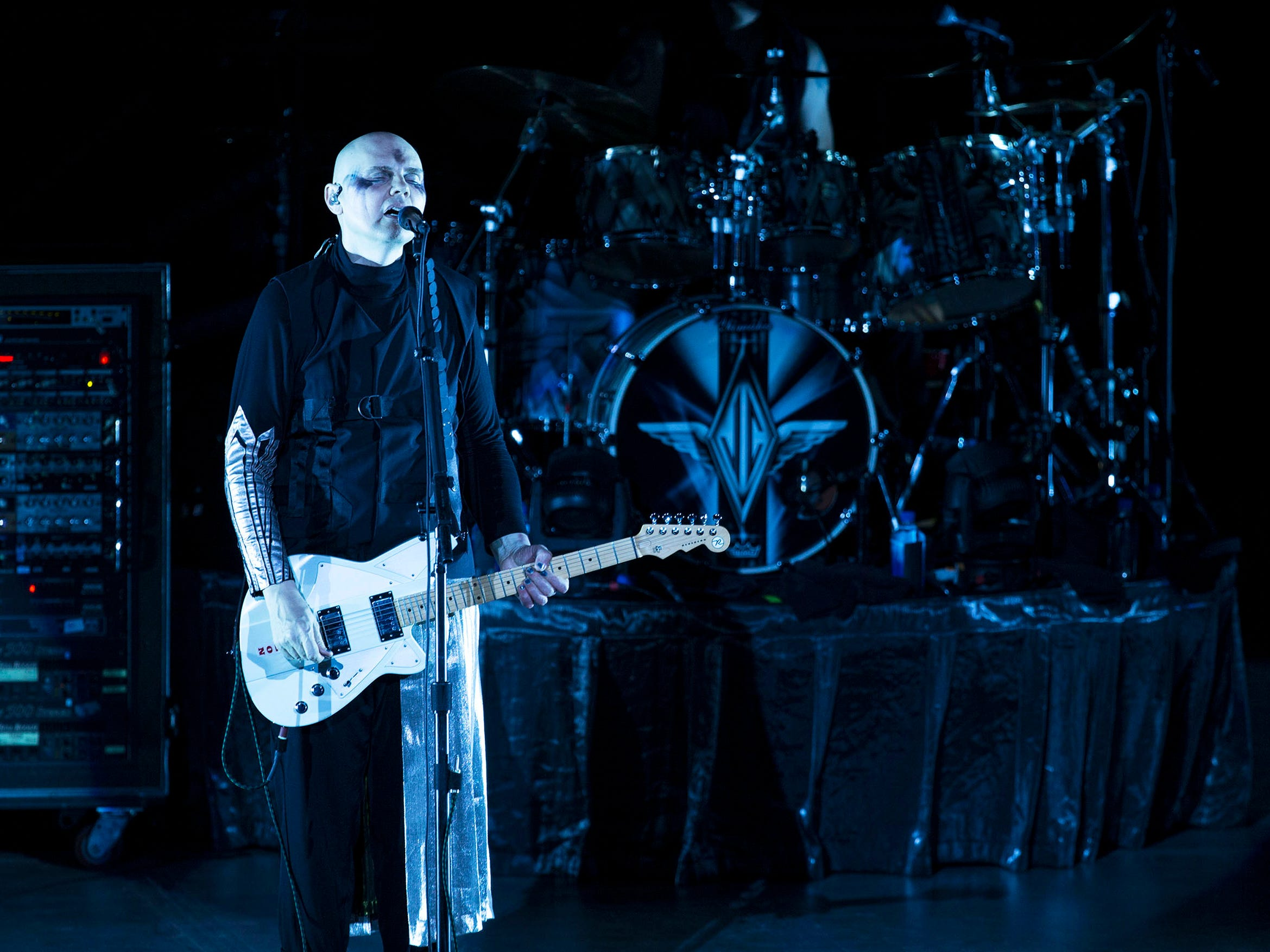 The Smashing Pumpkins perform their 30th anniversary concert at PNC Arts Center with a number of special guests for the occasion. Holmdel, NJ on Thursday, August 2, 2018
