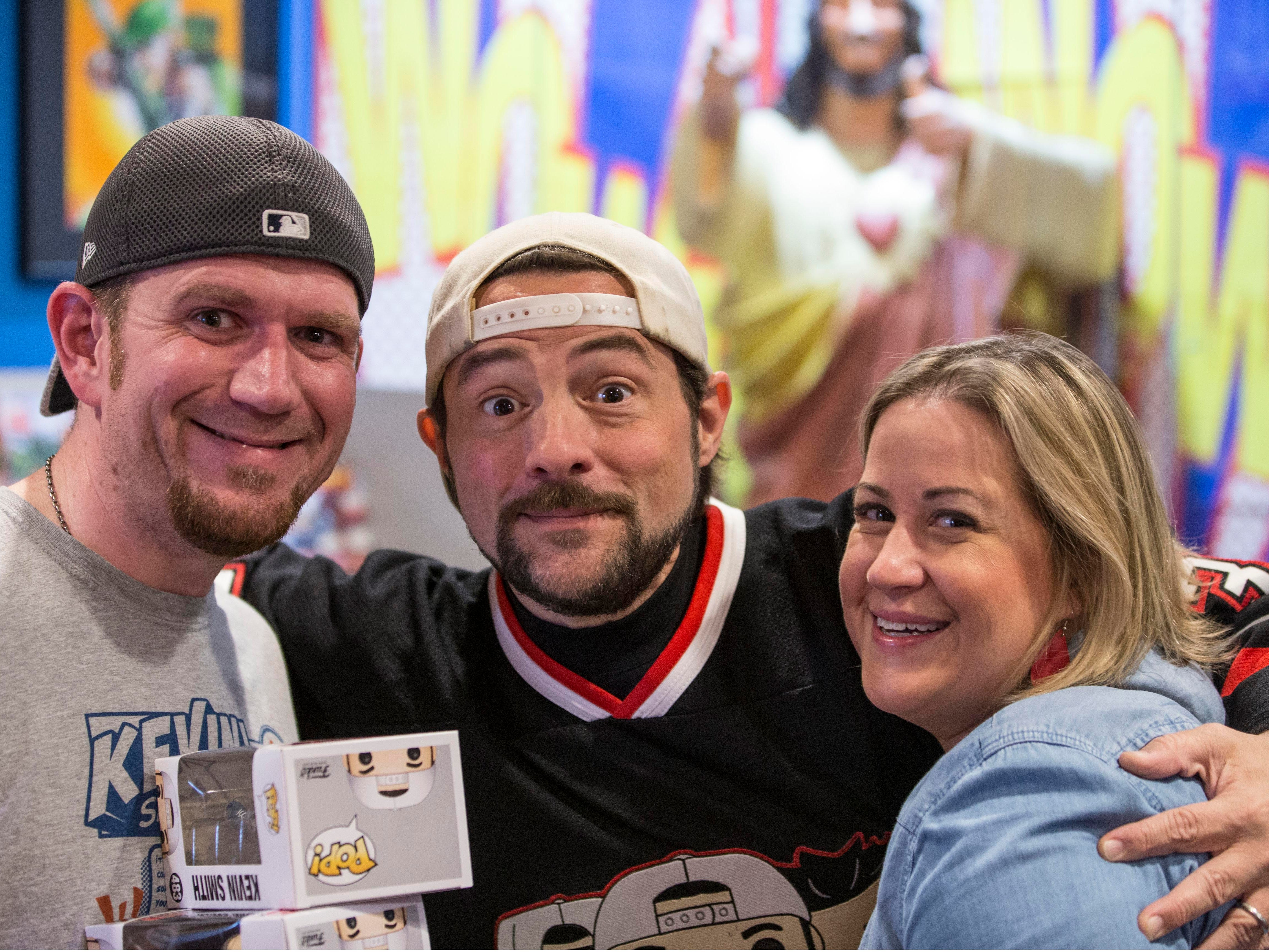 New Jersey native, filmmaker, Kevin Smith signs autographs for fans at his comic book store Jay and Silent Bob's Secret Stash.  Red Bank, NJ on Saturday, May 5, 2018