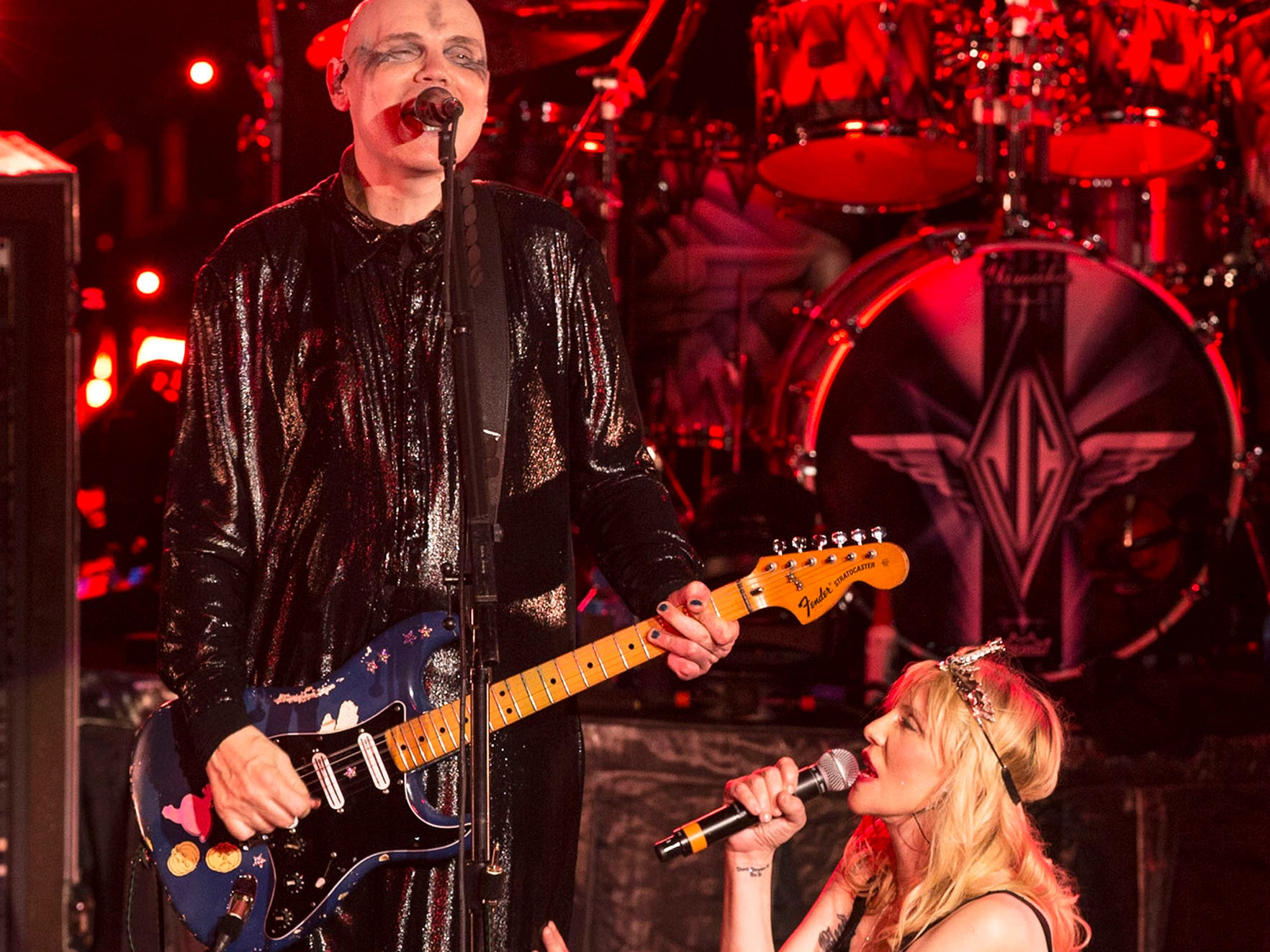 Courtney Love joins Billy Corgan and the rest of the Smashing Pumpkins. The Smashing Pumpkins perform their 30th anniversary concert at PNC Arts Center with a number of special guests for the occasion. 