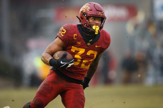 Former Iowa State star David Montgomery will try to impress teams during the NFL Scouting Combine this week.