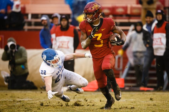 Iowa State coach Matt Campbell is expecting big things still from Kene Nwangwu.