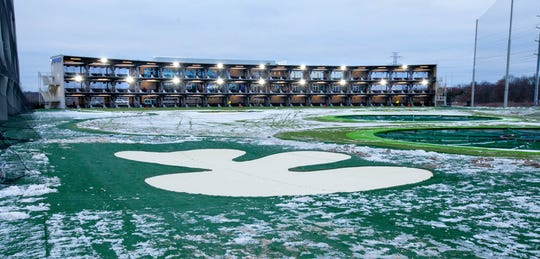 The new Topgolf facility in Auburn Hills.