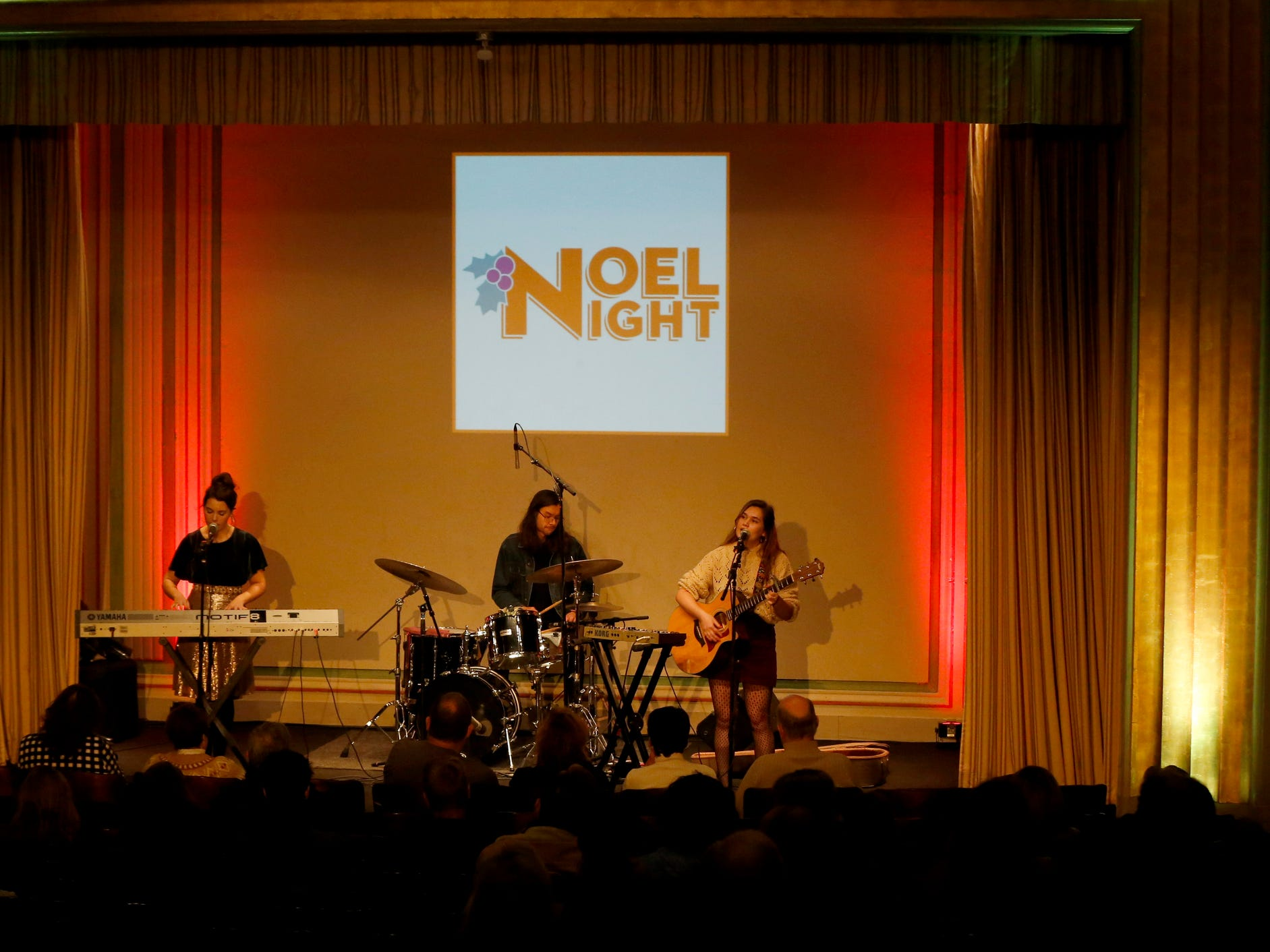 The band Lily and Madeleine perform during the daytime part of Noel Night at the Detroit Institute of Arts in Detroit on Saturday, December 1, 2018.