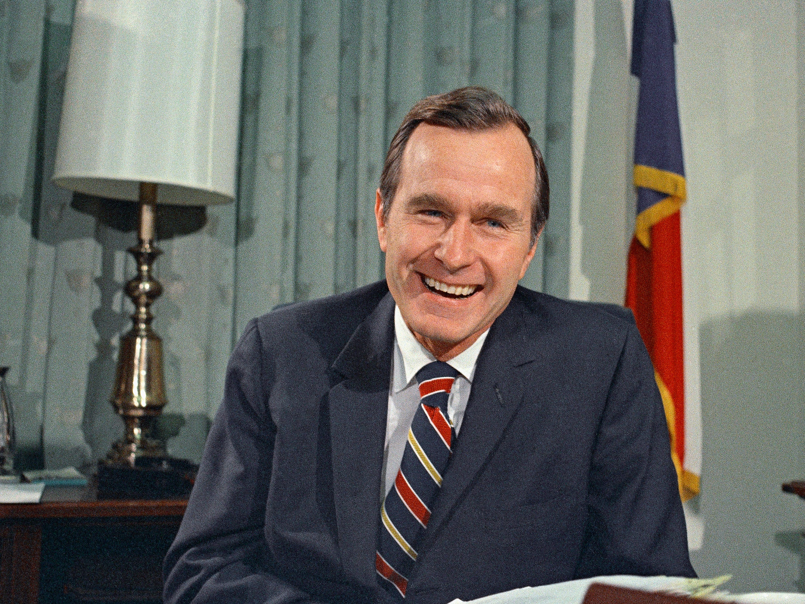 Newly appointed United Nations Ambassador George H. Bush smiles on Dec. 18, 1970.
