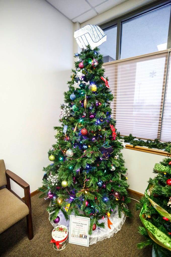 A Christmas tree decorated by Fond du Lac Boys & Girls Club on display Nov. 30, at Thrivent Financial, 443 N. Pioneer Road in Fond du Lac. A total of five trees made by local nonprofits are on display and can be voted on with proceeds going to the organizations.
