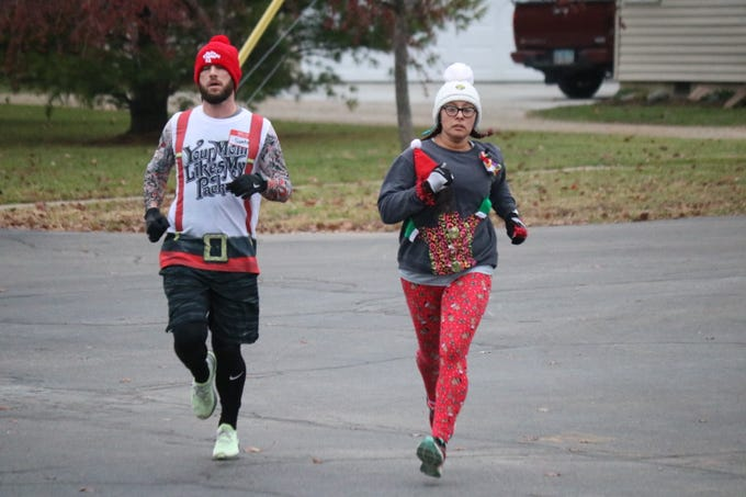On Saturday, the Village of Gibsonburg hosted its annual Ugly Christmas Sweater 5K Run and Walk at Hilfiker Elementary School as a way to give back to the community.