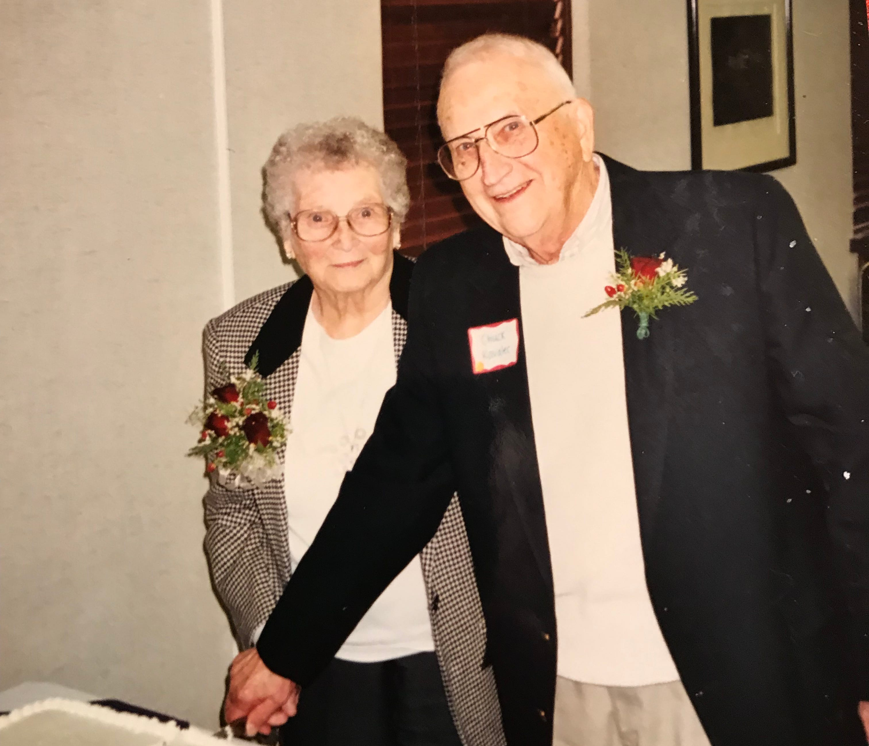 Chuck and Mary Kavalec at their 60th wedding anniversary.