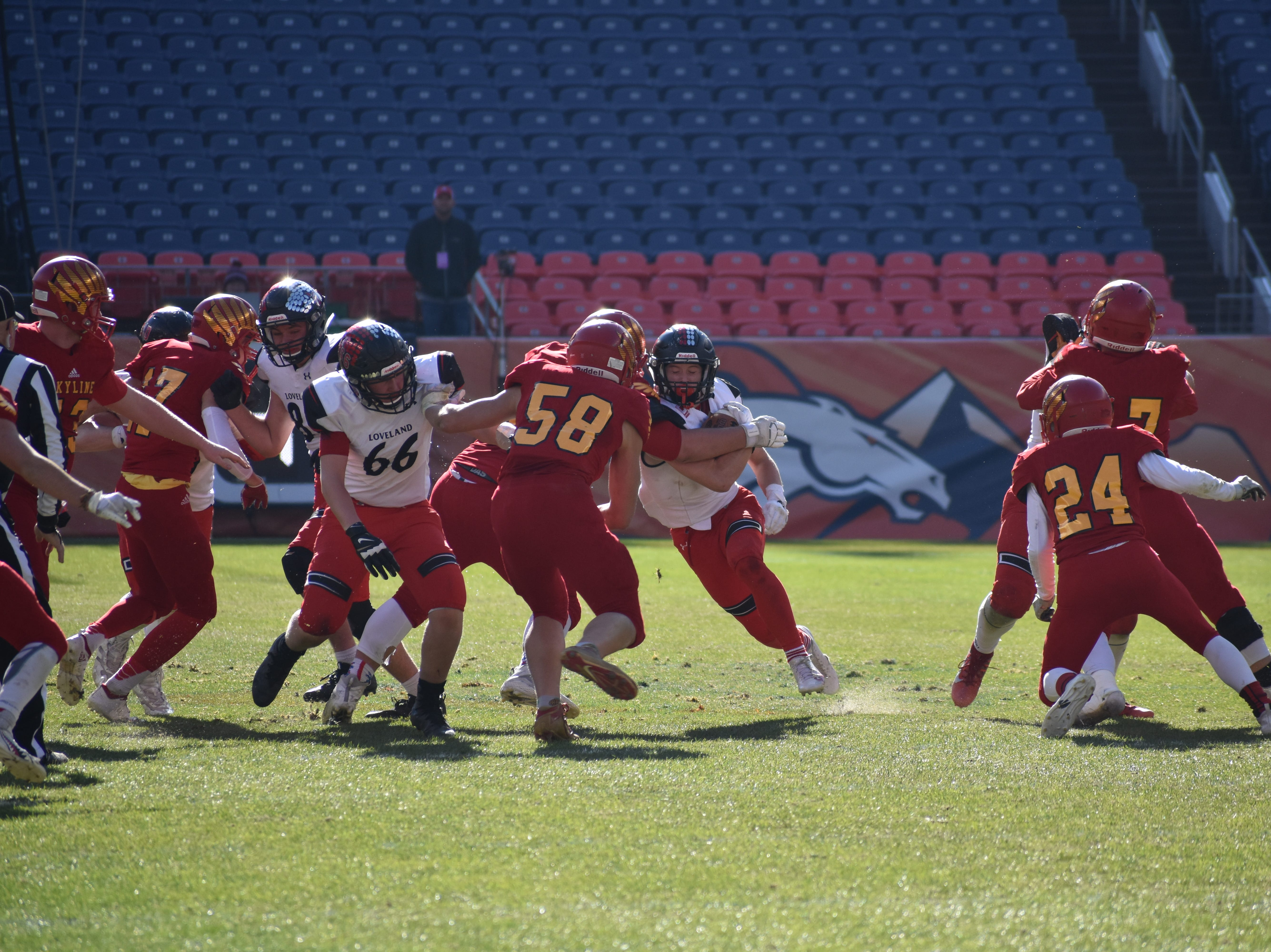Loveland High football wins Class 4A state title Saturday at Broncos Stadium at Mile High in Denver.