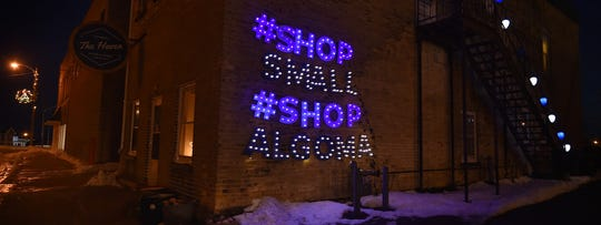 A specially designed lighted sign outside The Haven in Algoma earned a first place in last year's Great Kewaunee County Holiday Light Contest.