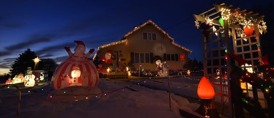 The house at 425 Church St., Algoma, took a first-place award last year in the Great Kewaunee County Holiday Light Contest.