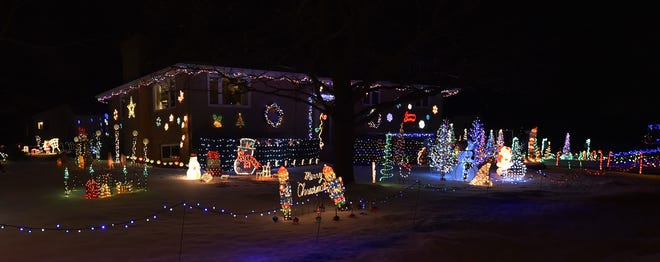 The Bill and Barb Koffman home in  Luxemburg won a first-place award in las year's Great Kewaunee County Holiday Light Contest.