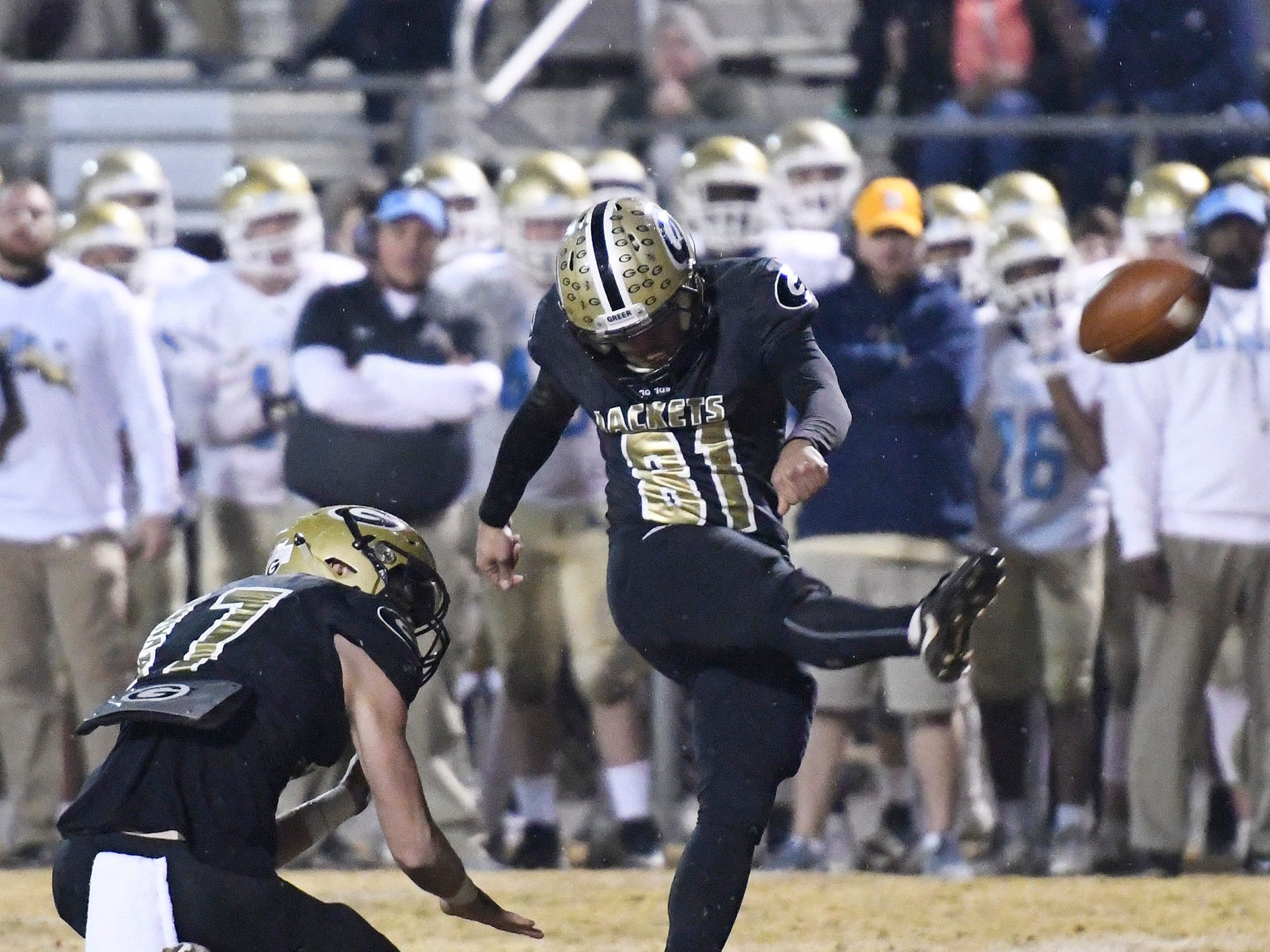 Greer hosts Daniel in the class AAAA upstate championship Friday, November 30, 2018 at Greer's Dooley Field.