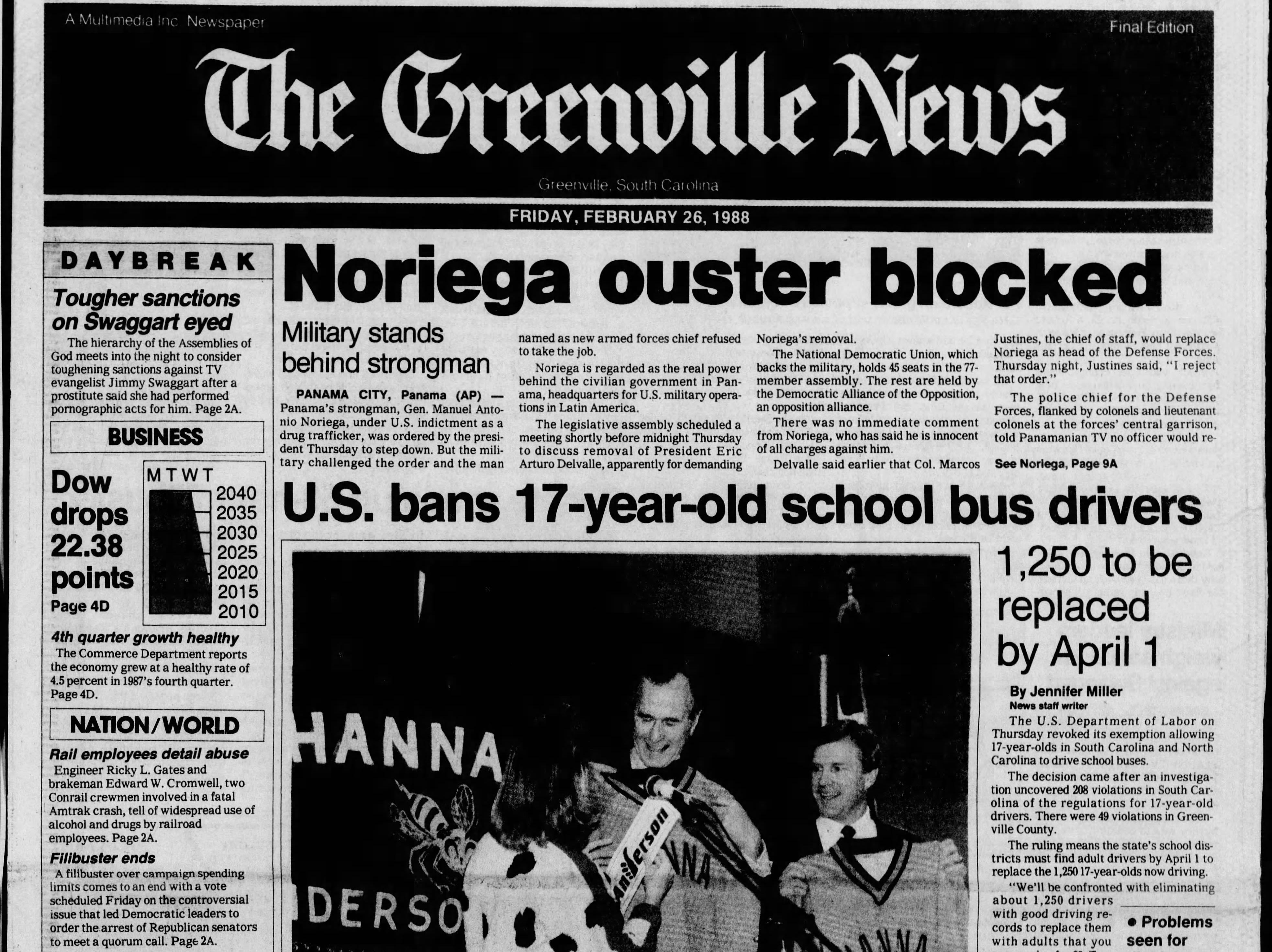 The Greenville News' coverage of former President George H.W. Bush's visits to South Carolina and the Upstate.
