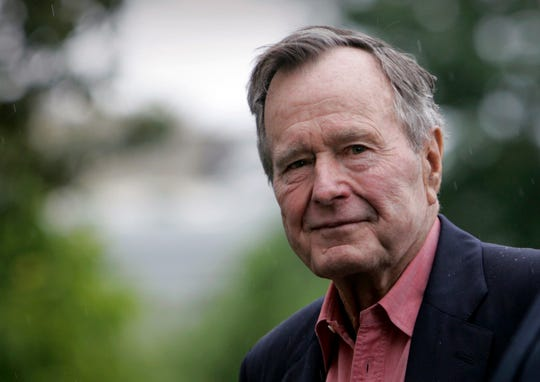 Former President George H.W. Bush as seen in 2008 photo.