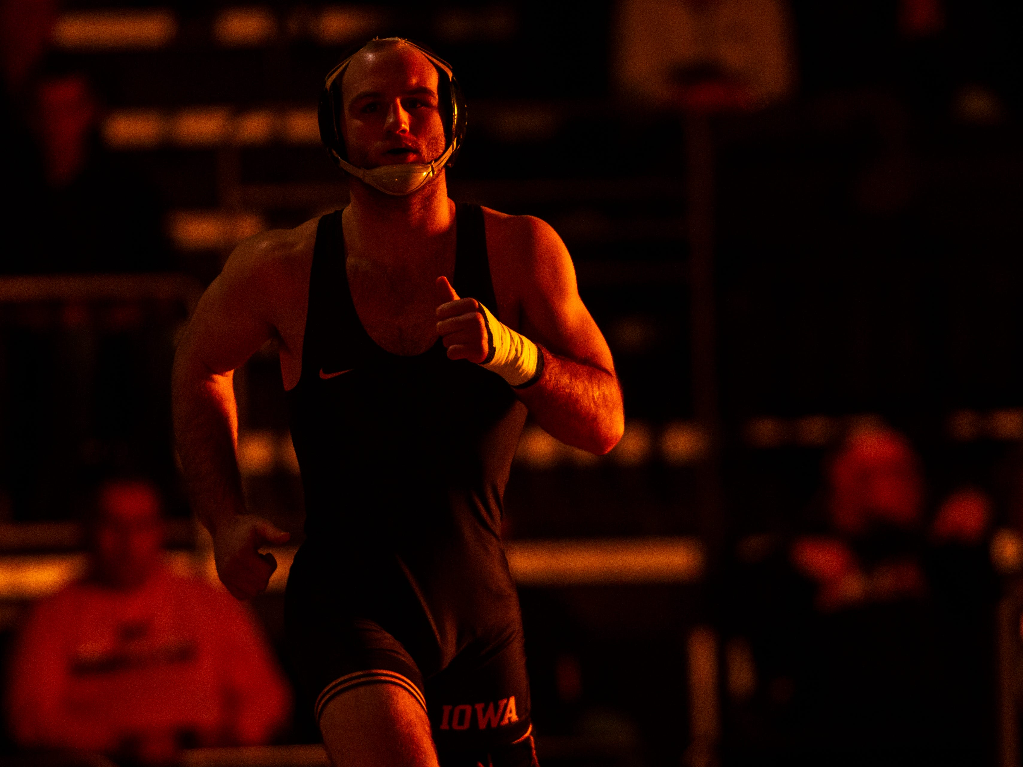 Iowa wrestling: Alex Marinelli's leadership helped Sam Stoll against Iowa State