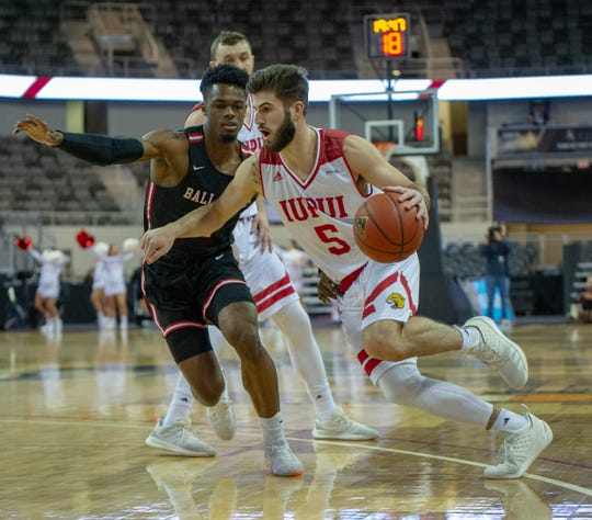IUPUI guard Camron Justice, who played one season with the Jaguars after transferring from Vanderbilt, shot 35.2 percent from the perimeter.