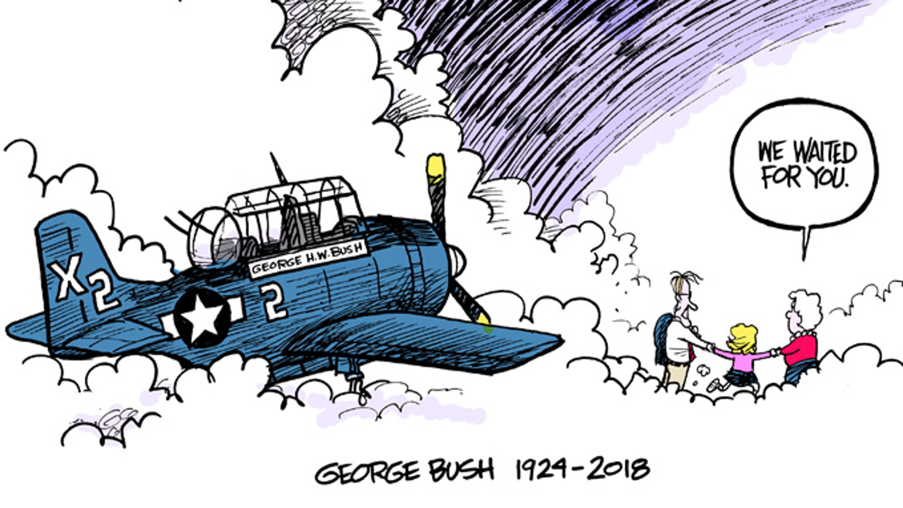 how the george h w bush cartoon came to life