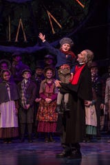"The ending of the Clarence Brown Theatre's ""A Christmas Carol"" is again a joyous retelling of Charles Dickens' story. The play runs through Dec. 22."