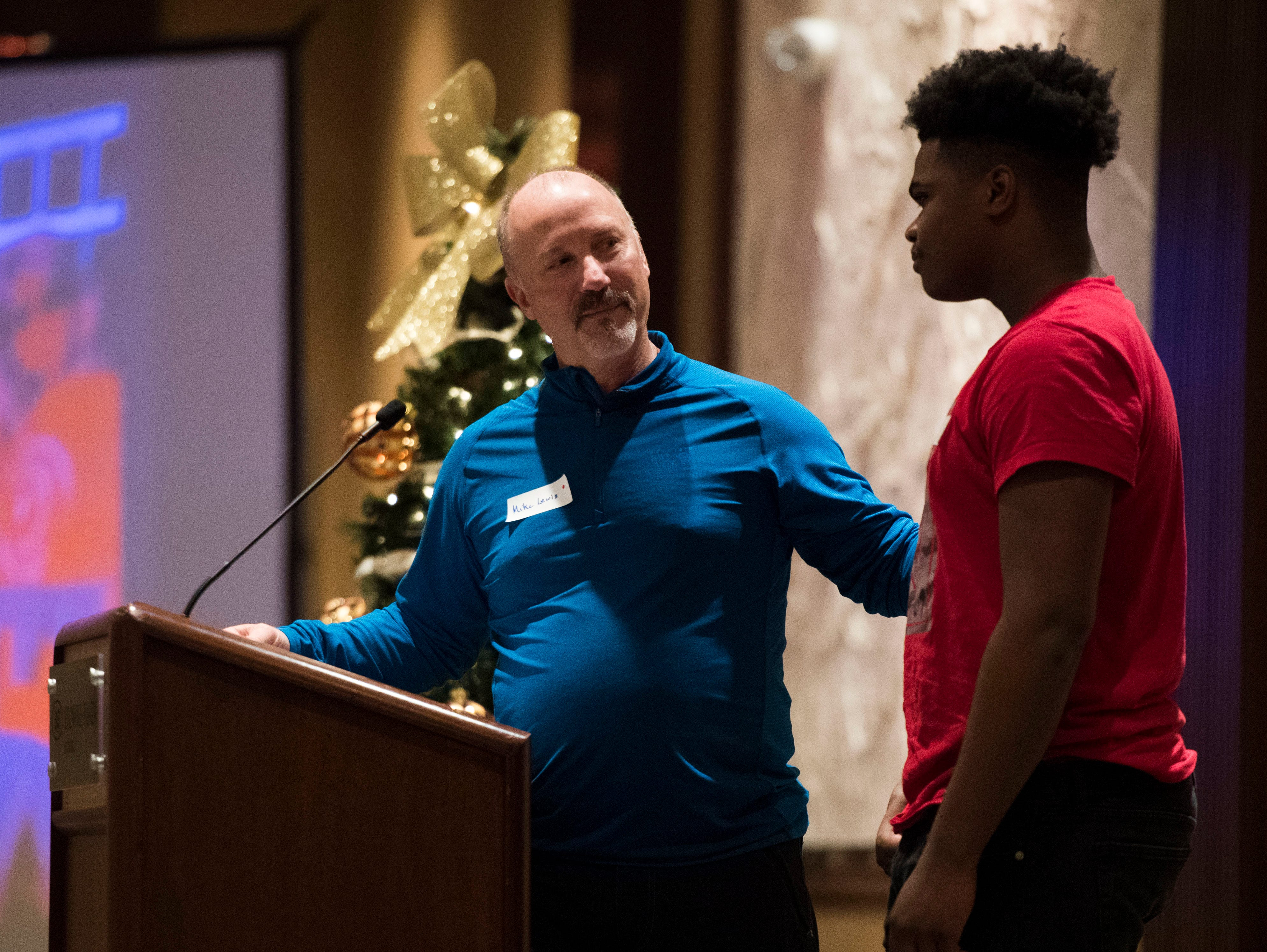 Mike Lewis was named Big Brother of the Year  at Big Brothers Big Sisters annual holiday party at the Crowne Plaza Saturday, Dec. 1, 2018. Nearly 300 mentors, mentees and family members were in attendance.