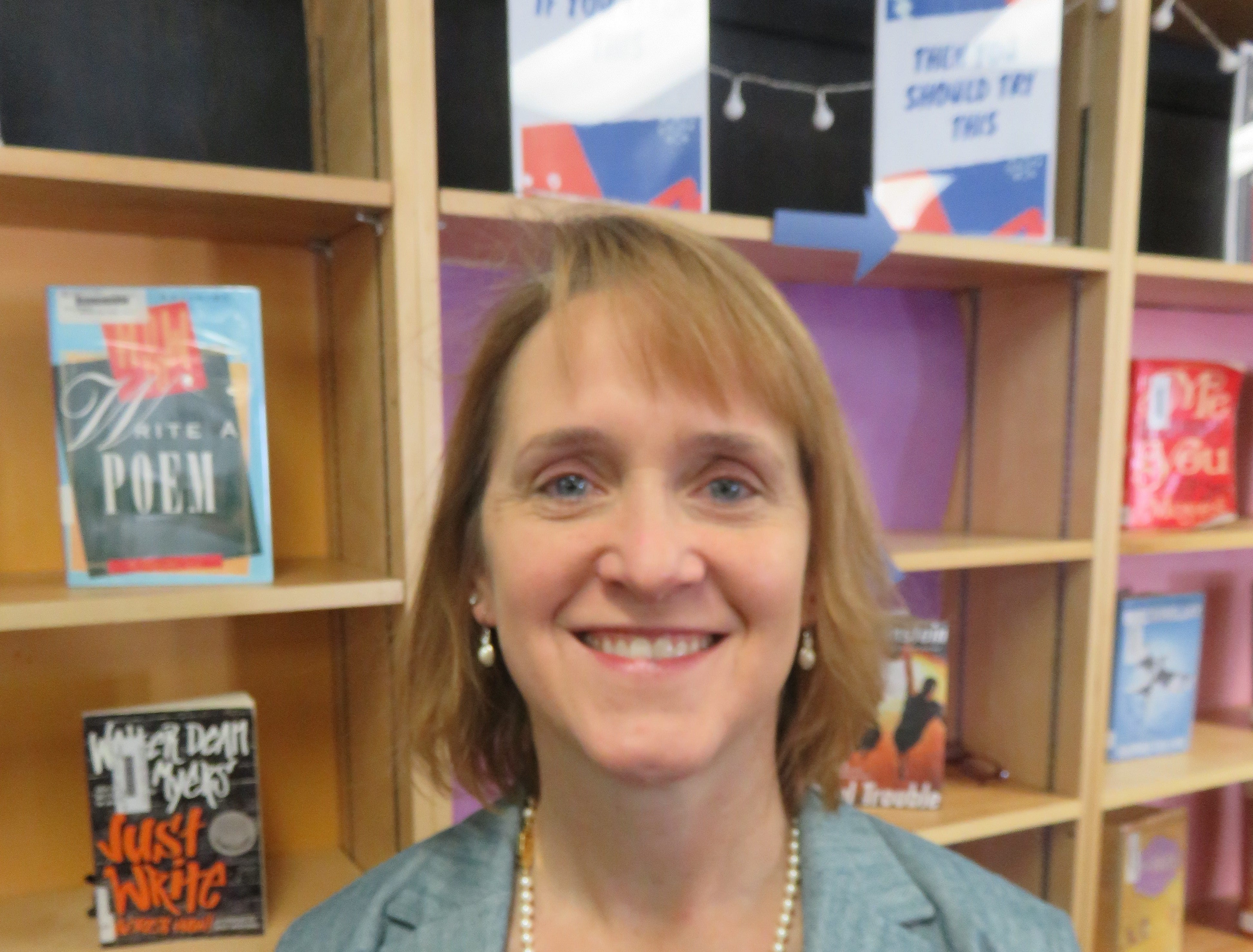 Bearden High business teacher and school VE facilitator Kathy McCoy