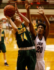 Connor Hall's double-double led Benton Central over Frontier.
