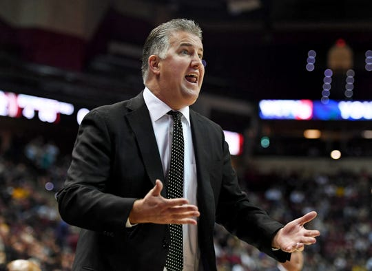 Nov 28, 2018; Tallahassee, FL, USA; Purdue Boilermakers head coach Matt Painter reacts during the first half against the Florida State Seminoles at Donald L. Tucker Center. Mandatory Credit: Melina Myers-USA TODAY Sports