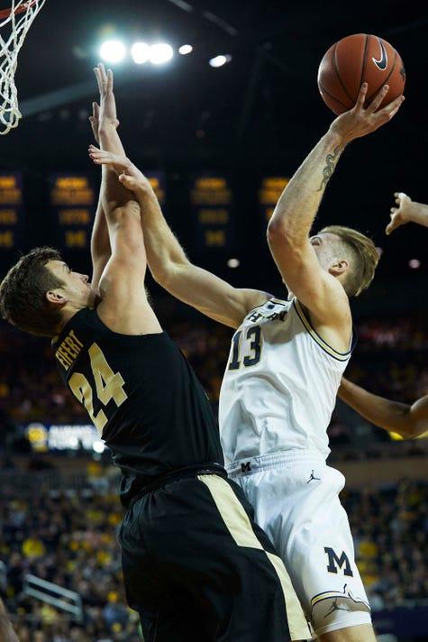 Ncaa Basketball Purdue At Michigan