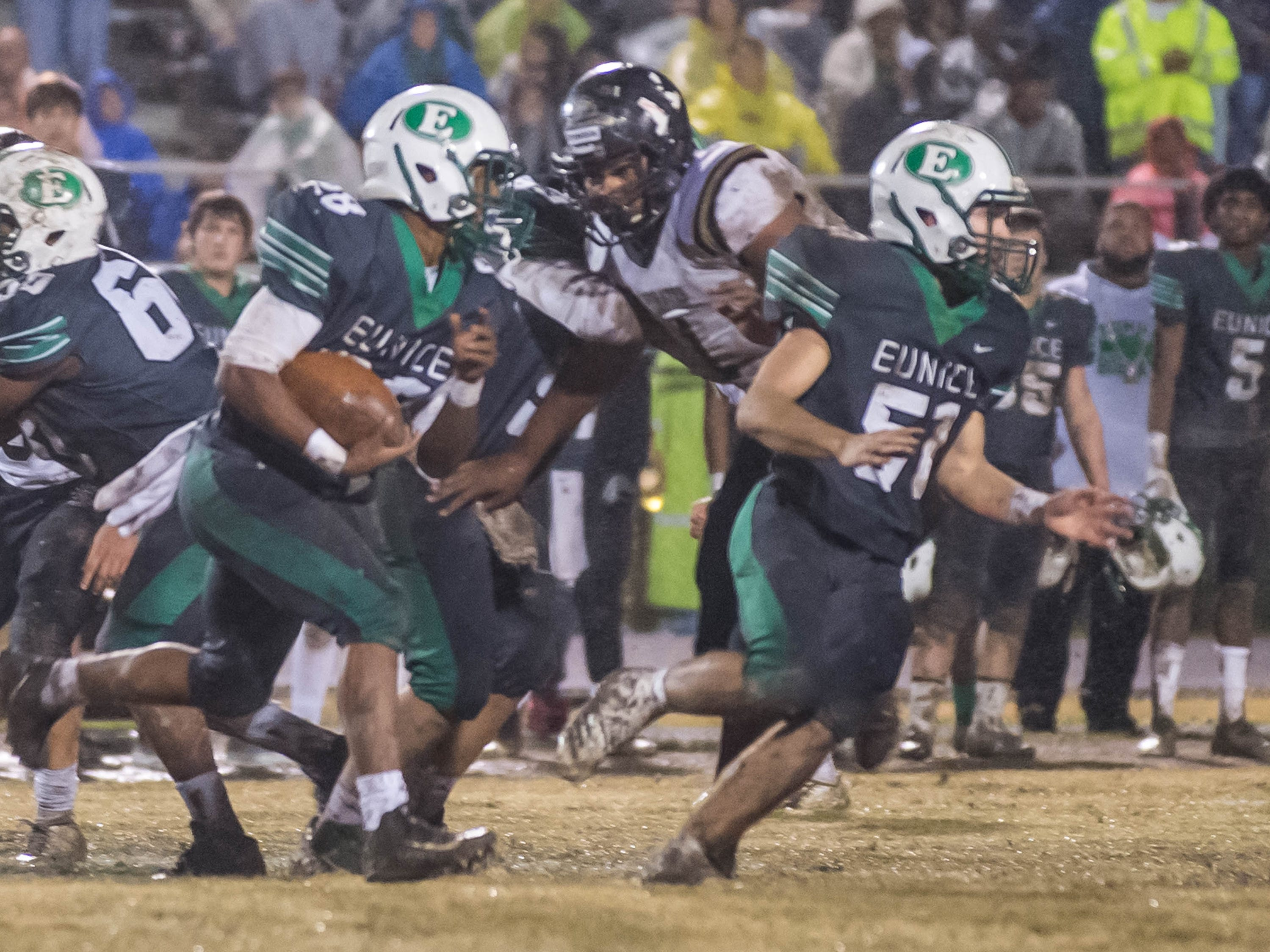 The Kaplan High Pirates travel to Eunice to take on the Bobcats in the LHSAA Class 3A semifinal game Friday Nov. 30, 2018.