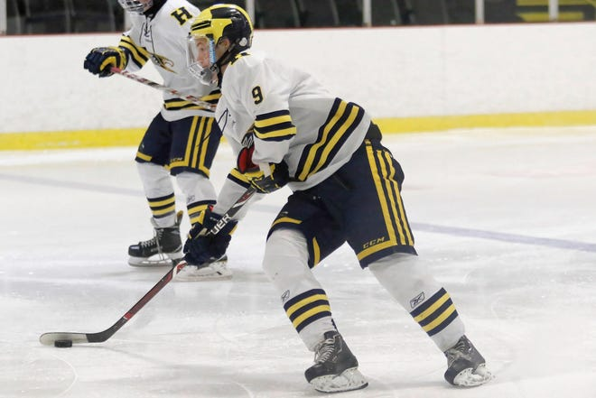 Hartland's Joey Larson scored two goals and had an assist in a 7-1 victory at Hancock.