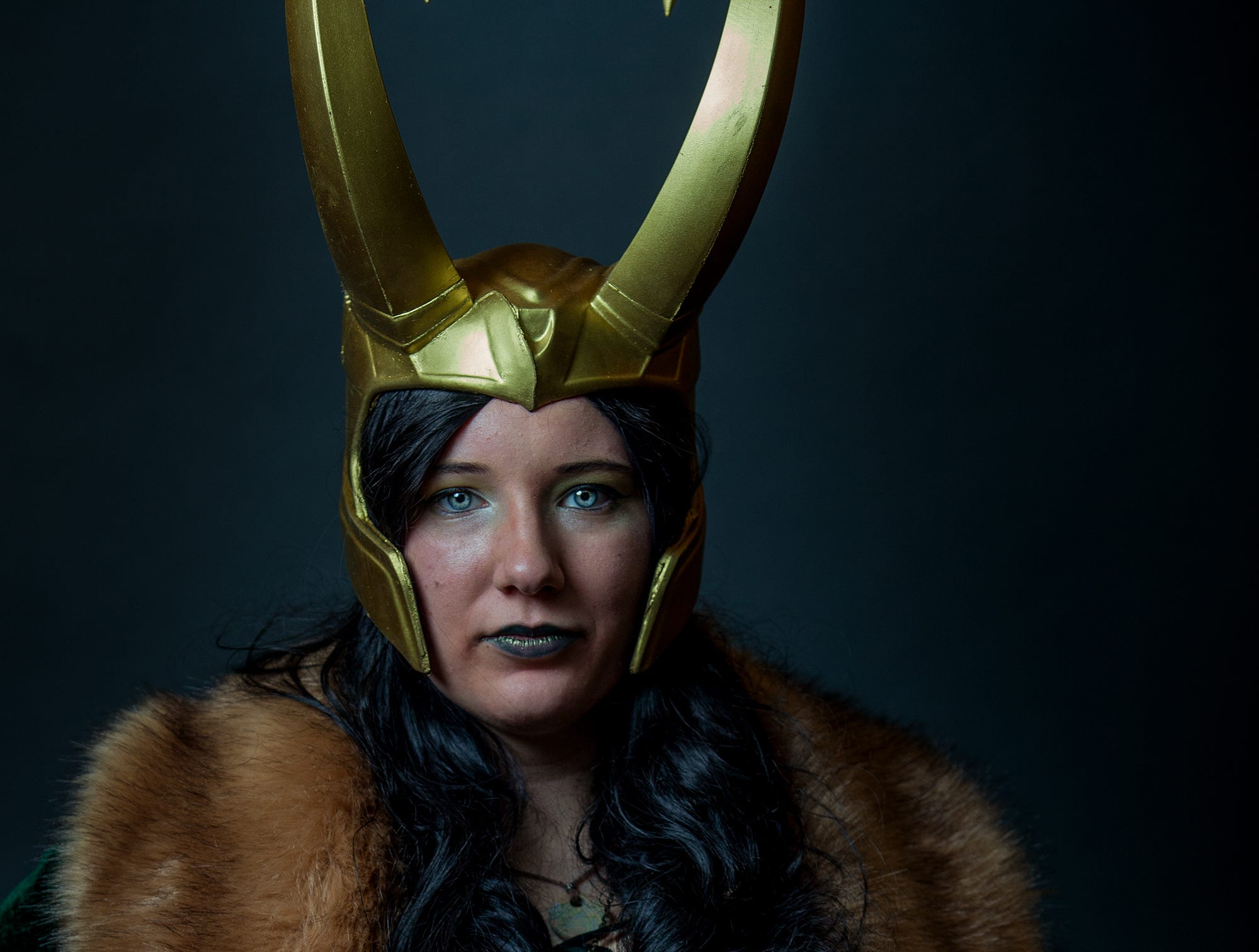 Cydni poses as Lady Loki for the Louisville Supercon at the Kentucky International Convention Center on Friday, Nov. 30, 2018.