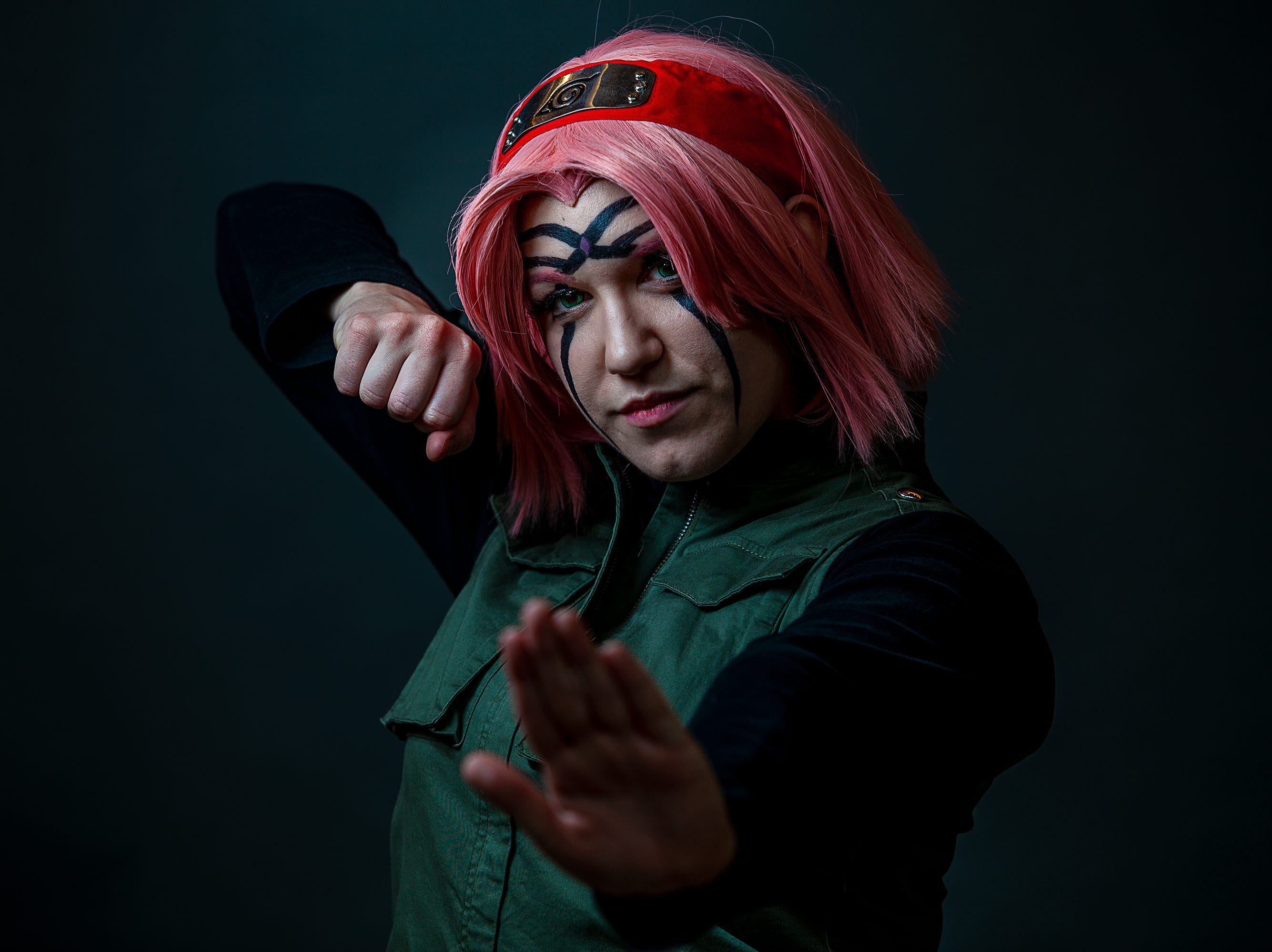 Amanda Fitzgerald poses as Sakura Haruno for the Louisville Supercon at the Kentucky International Convention Center on Friday, Nov. 30, 2018.