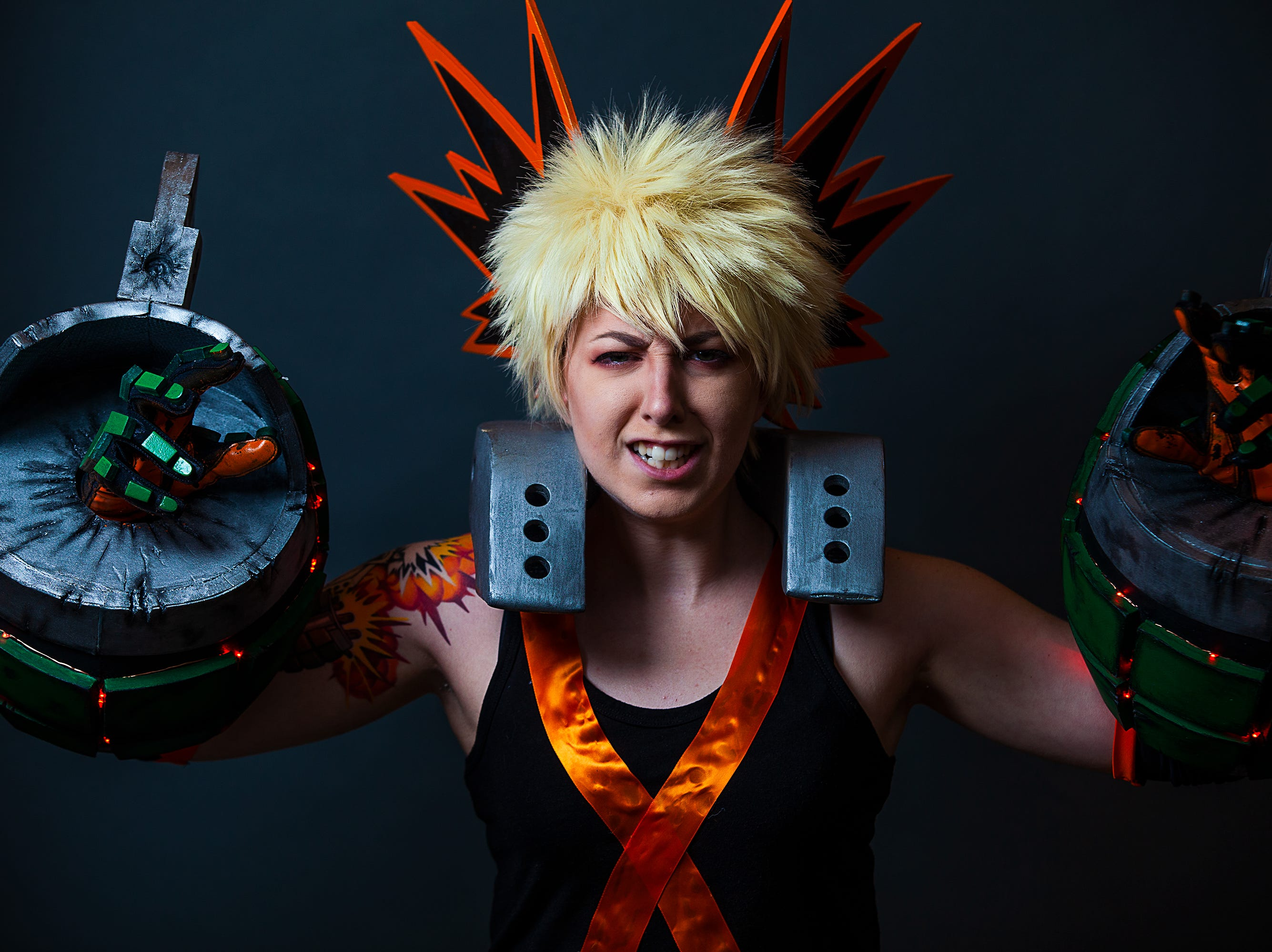 Carleen Fletcher poses as Bakugou for the Louisville Supercon at the Kentucky International Convention Center on Friday, Nov. 30, 2018.