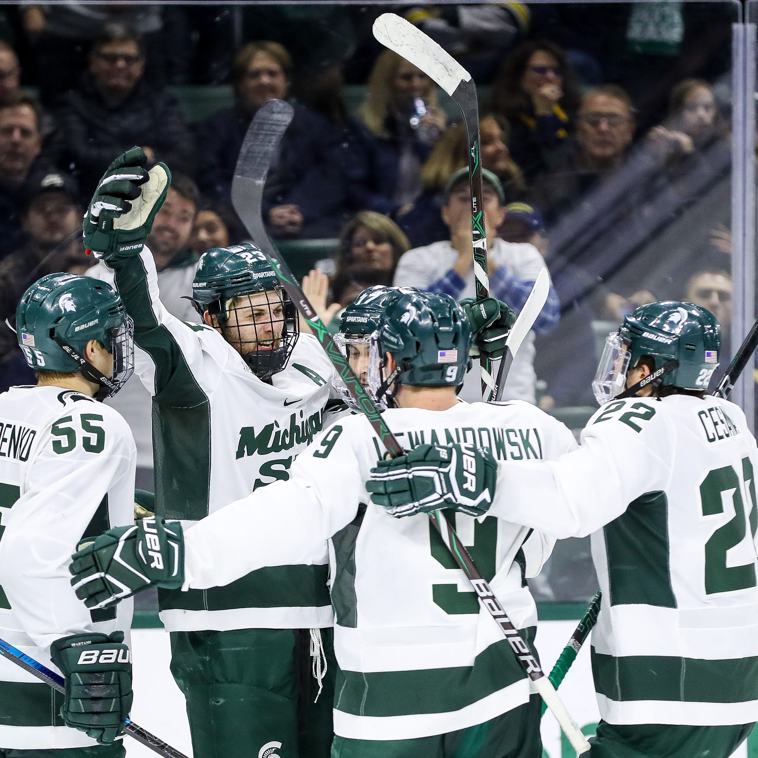 Michigan State hockey scores three power-play goals in 5-3 win over Minnesota
