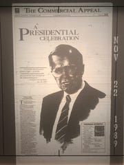The Commercial Appeal ran a special front page for President George H.W. Bush's visit to Memphis and the newspaper on Nov. 22, 1989.