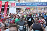 Thousands of people gather in Memphis to run in the annual St. Jude Marathon