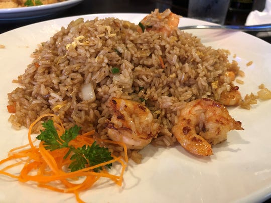 The shrimp fried rice from Saki Japanese Kitchen, East Naples.