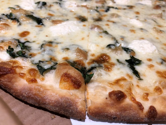 The white pizza from Sami's Pizza & Pasta, Marco Island.
