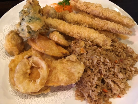 The chicken and vegetable tempura from Saki Japanese Kitchen, East Naples.