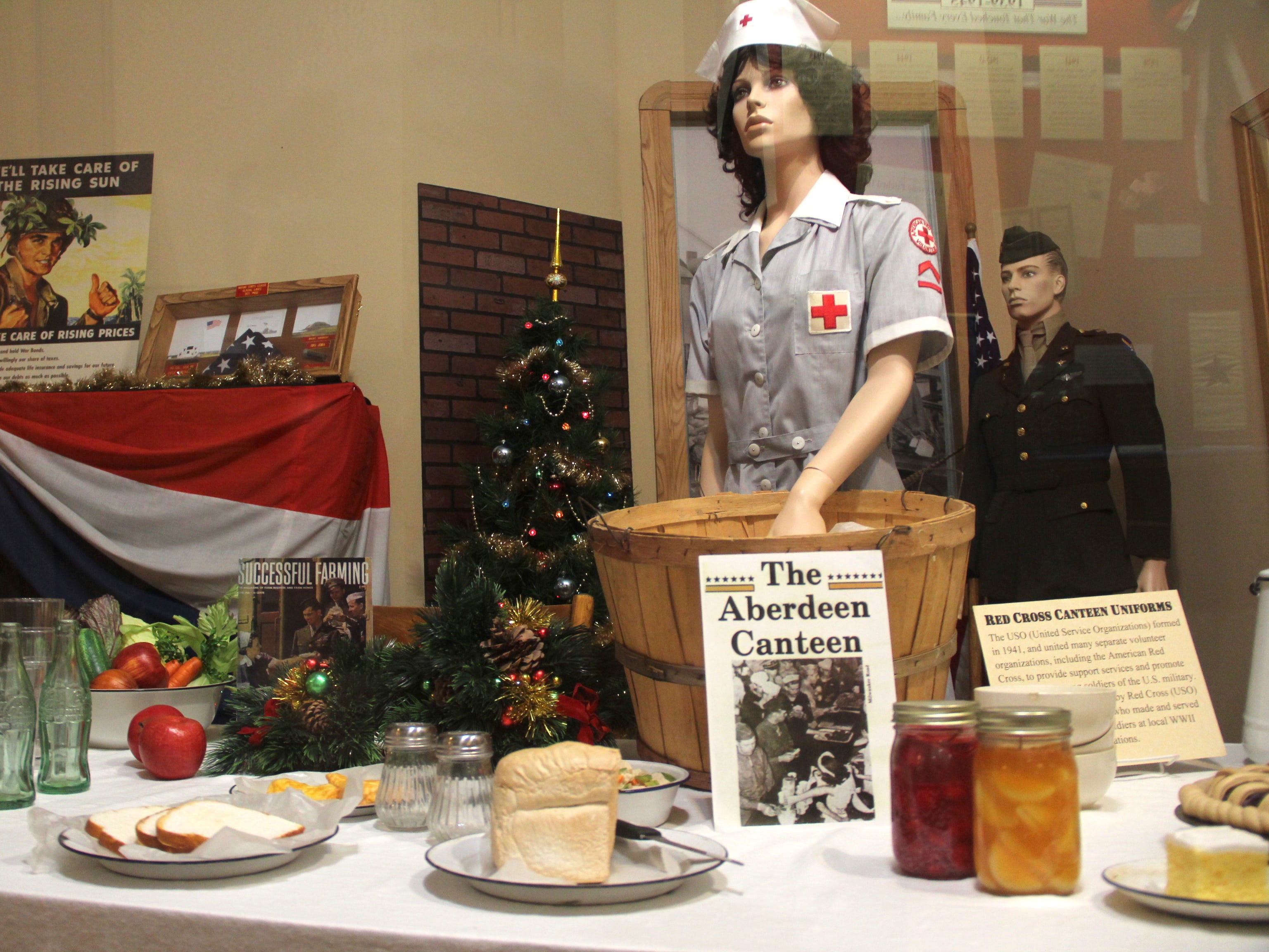 A display at the Dakotah Prairie Museum depicts the Aberdeen Pheasant Canteen during World War II. The site at the Milwaukee Road Depot in Aberdeen served pheasant sandwiches to more than 586,000 U.S. soldiers.
