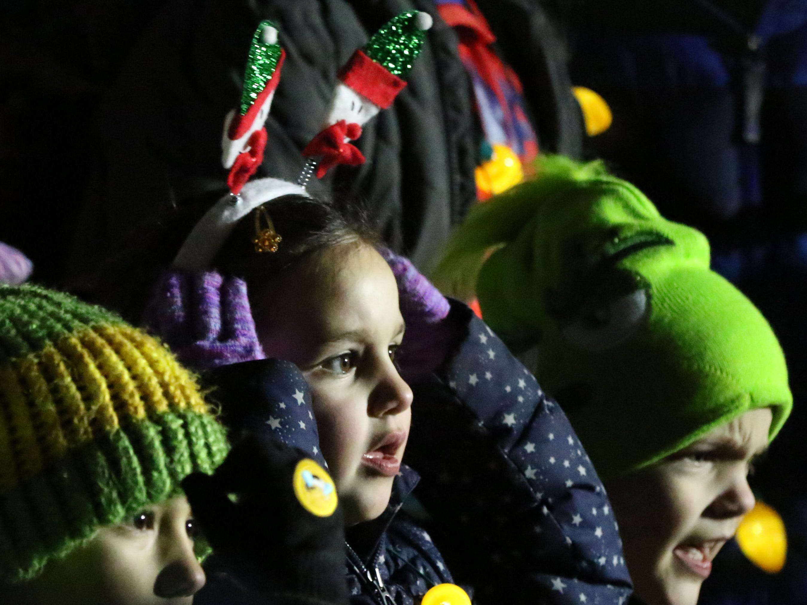 Childrens Choir members get ready to perform during Hartland Lights on Nov. 30.
