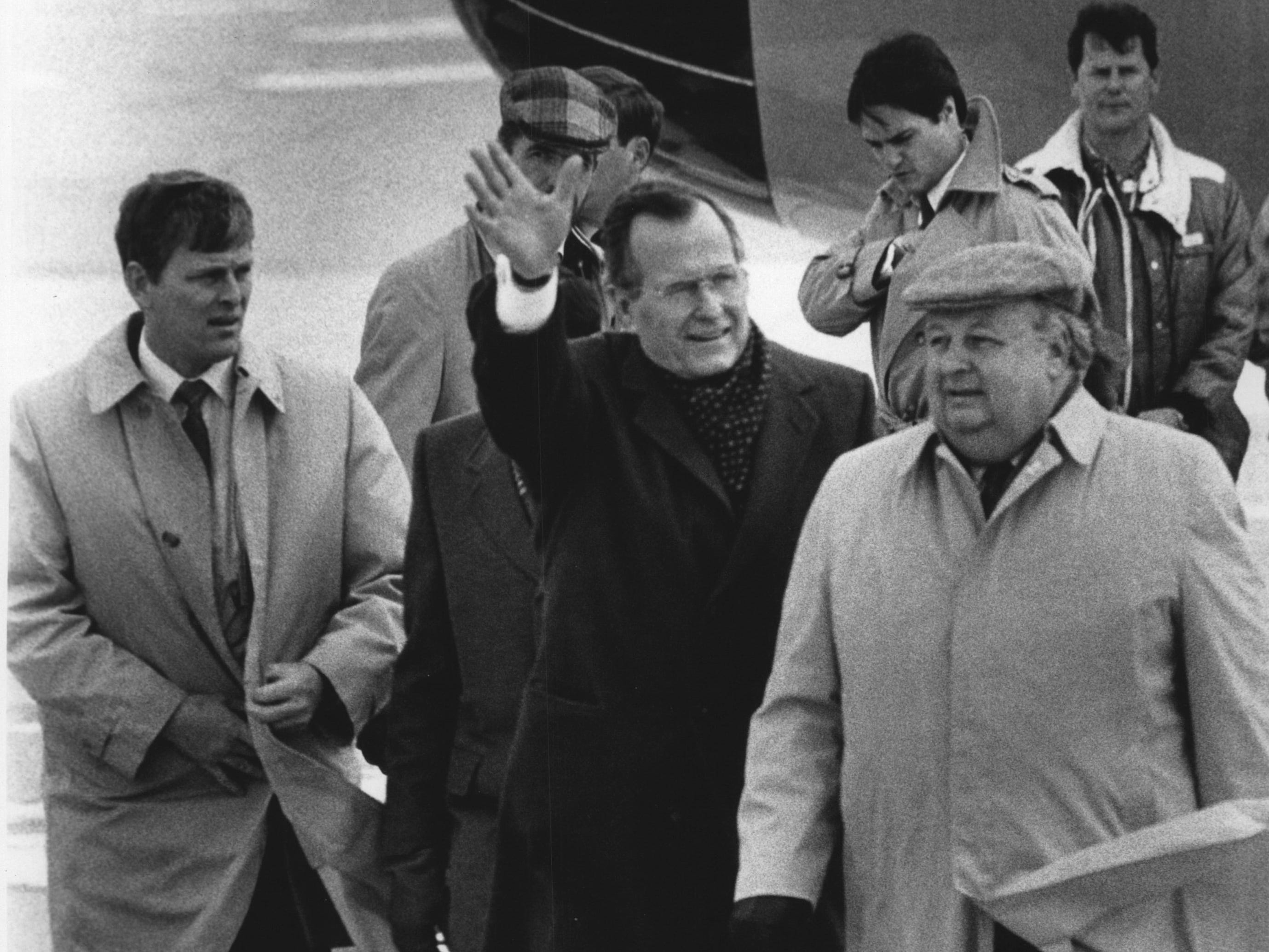 George Bush visiting Milwaukee in 1988.