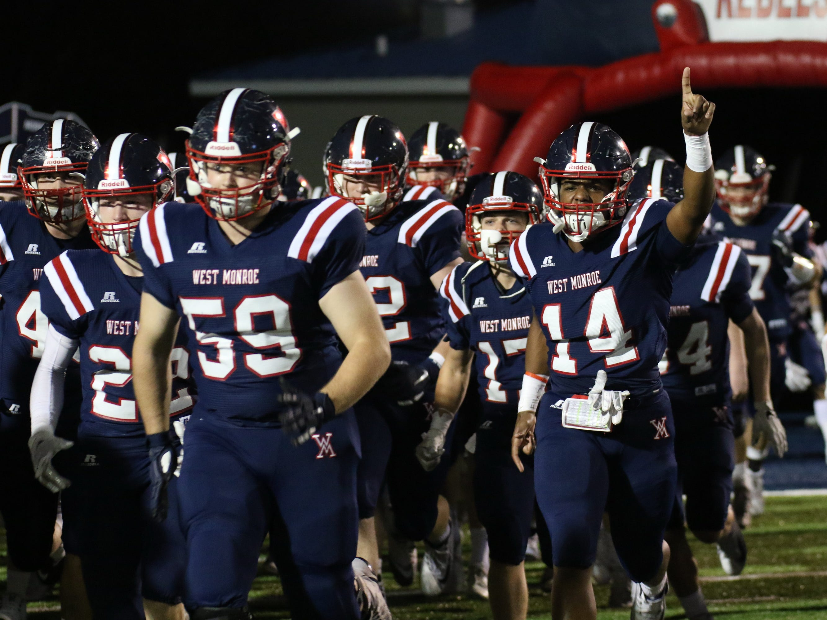 West Monroe blanks John Ehret 28-0 at West Monroe High School in West Monroe, La. Nov. 30 and plays for the Class 4A state championship next week.
