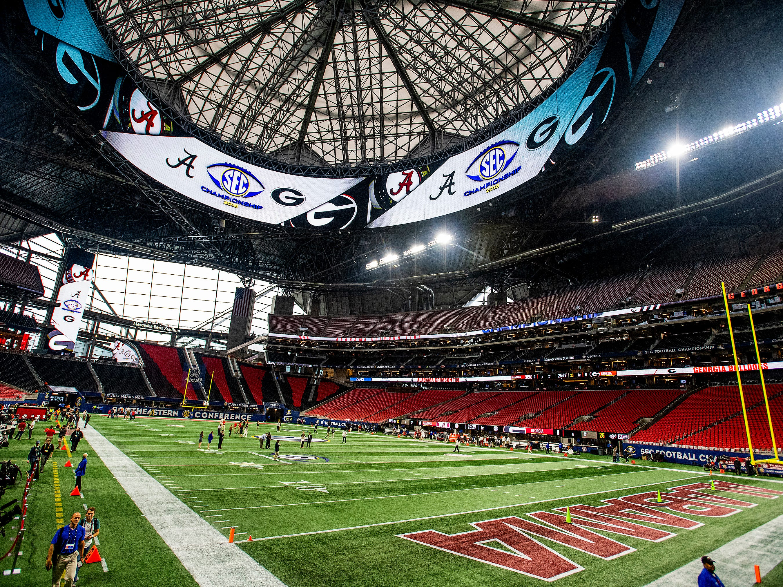 before the SEC Championship Game at Mercedes Benz Stadium in Atlanta, Ga., on Saturday December 1, 2018.